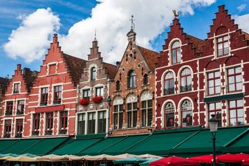 Typical buildings in Bruges, Belgium