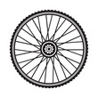 Bicycle wheel, vector format - 75878672