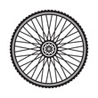 Bicycle wheel, vector format - 75878678