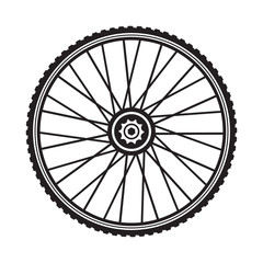 Bicycle wheel, vector format