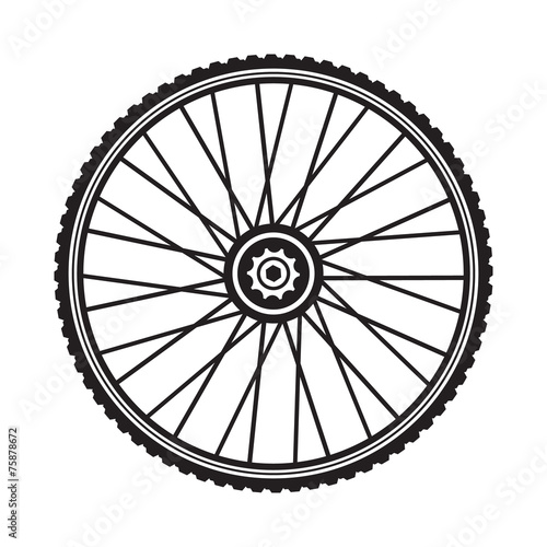 Bicycle wheel, vector format - 75878672