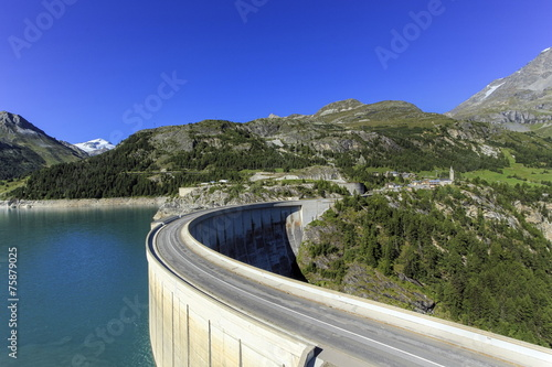 Tuinposter Dam Hydro-electric Tignes dam, Isere valley, Savoie, France