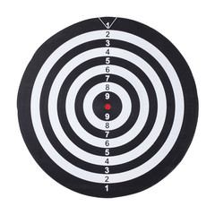 dartboard isolated on white background