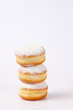 canvas print picture - doughnut tower on white background