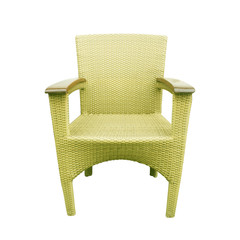Chairs made of woven plastic