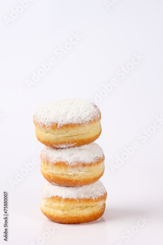canvas print picture doughnut tower on white background