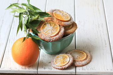 Печенье с миндальной мукой и апельсиновой цедрой