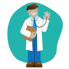 Man coat, doctor or pharmacist