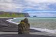 canvas print picture - Island Lavestrand bei Vik