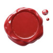red postal wax seal with clipping path included