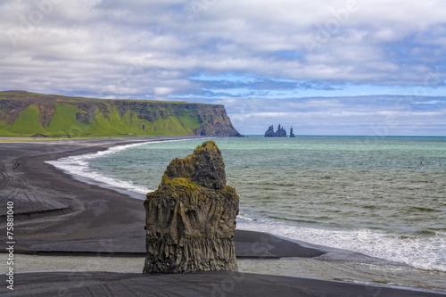 canvas print picture Island Lavestrand bei Vik