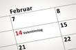 canvas print picture - calendar detail