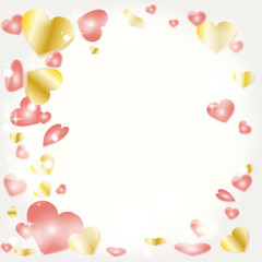 バレンタインデー ピンクハート