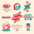Set of vector St. Valentine's day illustration