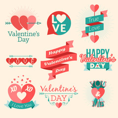 Set of vector St. Valentine's day illustration