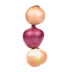 close up of Different onions