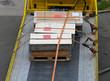 Leinwanddruck Bild - Crates at truck