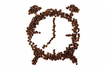 Coffee beans conventionalized to clock © Piotr Marcinski