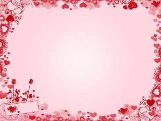 Valentine Background - hearts frame