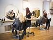 Leinwanddruck Bild - Hair salon situation