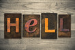 canvas print picture - Hell Concept Wooden Letterpress Type