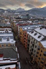 Innsbruck dalla torre civica