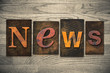 News Concept Wooden Letterpress Type - 75885653