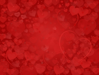 Valentine Background with dream hearts frame