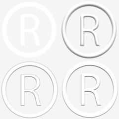 Registered R icons