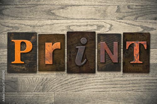 Print Concept Wooden Letterpress Type - 75886045