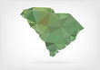 Low Poly map of South Carolina state