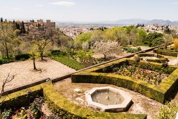 Alhambra, spagna, giardini