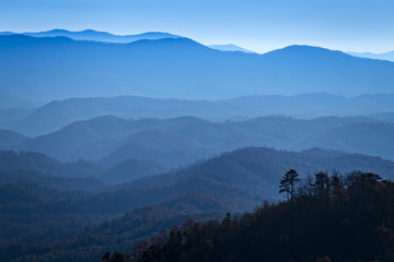 Great Smoky Mountains National Park, View from Look Rock