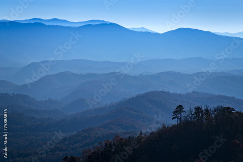 Fotobehang Bergen Great Smoky Mountains National Park, View from Look Rock