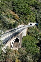 Two-lane motorway bridge