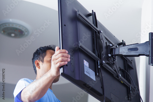 canvas print picture Installing mount TV