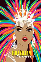 Brazilian carnival woman. Portrait