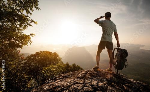 Foto op Plexiglas Alpinisme Tourist
