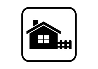 House vector icon on white background