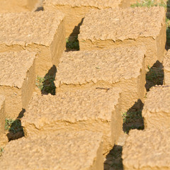 Graphic mud bricks