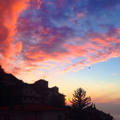Awesome city sunset in Trieste