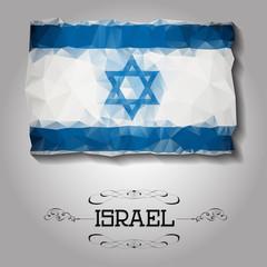 Vector geometric polygonal Israel flag.