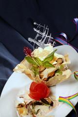 Pilzsalat mit Pamesan