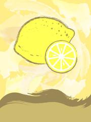 Postcard with lemon