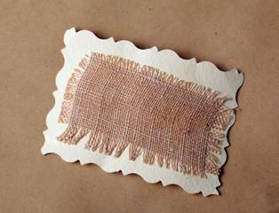 mesh texture on brown kraft paper background