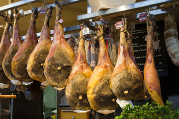 Jamon traditional meat in spanish cuisine.