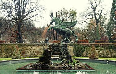fountain in Mirabell Gardens in Salzburg, Austria