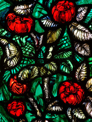 Flowers (roses) in stained glass