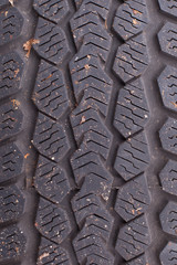 Texture of an old tire