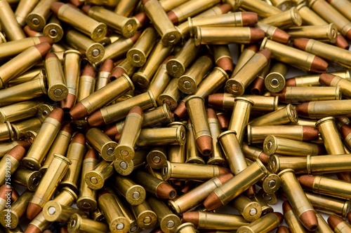 Leinwanddruck Bild bullets